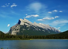 Mount Rundle - view from Vermillion Lake (krystyna_piw) Tags: travel canada water june rockies alberta banff mountrundle vermillion rundle vermillionlake