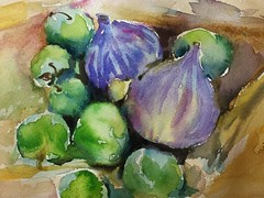 () Tags: color art fruit watercolor painting sketch fig drawing watercolour illustrator draw
