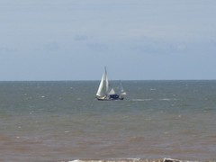 Sails seen in the sea off Blackpool (j.a.sanderson) Tags: sea sailing yacht sailingboat