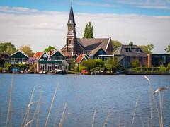Zaandam (Mule67) Tags: church windmill museum river de steeple molen zaandam zaan 2016 neatherlands 5photosaday zaansche