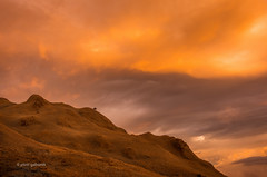 Sunset Madness (pietkagab) Tags: sunset mountains burning sky cordillera colours pietkagab piotrgaborek photography pentax travel trip trekking trek hike mtpulag clouds adventure