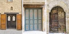 Puertas (PeloZano) Tags: girona puertas portes besal sillascolgadas cadirespenjades