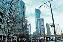 The Cityscape. (Wilickers) Tags: city toronto day building street architecture sky high canon 60d clouds morning vast
