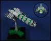 Cheroot Class Missile Frigate (Karf Oohlu) Tags: lego scifi spaceship moc cheroot microscale microspacetopia missilefrigate