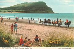 Butlins Ayr - Horse riding on the beach (trainsandstuff) Tags: butlins ayr holidaycamp postcard vintage scotland retro old history archival