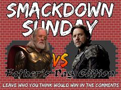 SMACKDOWN SUNDAY- FATHER'S DAY EDITION- Odin VS Jor-El (Luigi Fan) Tags: comics dc el superman vs odin thor marvel jor