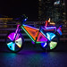 Lightshow on a bycicle
