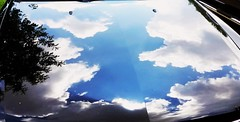 Hooded Reflections (karmenbizet73) Tags: cloud art car weather clouds reflections photography random weatherreport eyespy hooded carhood cloudwatching weathergirl amateurphotographer cloudspotting 88366 photodevelopment eyespyauto 2016366photos