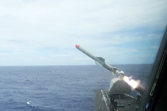 USS Coronado (LCS 4) launches harpoon missile during RIMPAC USS Coronado (LCS 4) launches harpoon missile during RIMPAC