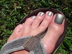 Summer Gray (toepaintguy) Tags: boy summer man sexy male men guy feet glitter bronze fun foot shiny toe shine masculine sandals gorgeous nail gray tan polish glossy nails fingernails gloss fingernail sandal toenails shimmer allure toenail daring lacquer