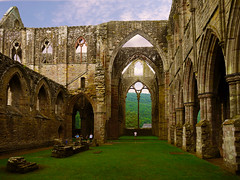 Tintern Abbey East Window (Alan FEO2) Tags: windows sky abbey grass wales clouds outdoors ruins arch floor columns east panasonic aisle nave g1 curve chepstow dmc thearch tinternabbey tintern monmouthshire thecreativechallenge 2oef