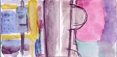 bitte schauen Sie nach rechts wie die Sonne untergeht am Ende des U-Bahntunnels (raumoberbayern) Tags: auto city pink winter dog bus fall smart car pencil paper munich mnchen landscape herbst tram sketchbook hund stadt papier landschaft bleistift robbbilder skizzenbuch strasenbahn