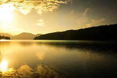 Golden Morning (--Conrad-N--) Tags: sunrise golden morning bavaria bayern mountains berge see lake reflections walchensee
