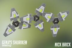Genji's Shuriken - Overwatch (Nick Brick) Tags: lego overwatch genji shuriken throwing star ninja cyborg 11 life size blizzard nickbrick