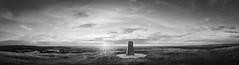 Cley Hill Pano [B+W]. (gcu_sketcher) Tags: xt1 xf1024 bw silverefexpro pano panorama cleyhill wiltshire landscape summer sunset ptgui
