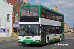 M Travel Castleford T820RFG. (EYBusman) Tags: m travel glasshoughton castle ford west yorkshire independent bus coach town centre east lancs lancashire lolyne dennis trident go ahead brighton hove t820rfg eybusman