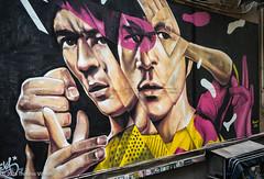 Bruce (Theunis Viljoen LRPS) Tags: brucelee graffiti hongkong