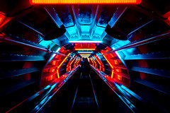 Time tunnel (TS_1000) Tags: time brssel bruxelles licht rot blau