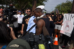 (ONE/MILLION) Tags: black lives matter tempe arizona bridge shut down public demonstration protest rally support law enforcement police people crowds groups rights civil williestark onemillion love hate news media report attitude phoenix beach park jarrett maupin revjarrettmaupin jail