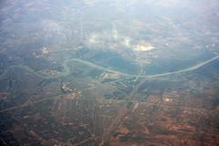Inflight over Baghdad 16/06/2014 (Tu154Dave) Tags: river iraq emirates airbus a380 baghdad tigris a380861 a6edf