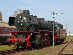Imposing and powerful (The Rubberbandman) Tags: old railroad west classic train vintage germany br shed engine railway loco cargo steam german oil depot locomotive powerful freight tender 41 deutsche fired bundesbahn br41 stasfurt