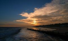 Sunset in Frinton (Ruth S Hart) Tags: sunset beach 1224 d300 frintononsea thebistro
