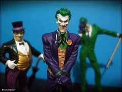 Penguin, Joker and Riddler (Gui Lopes BH) Tags: robin comics toys penguin miniatures dc action statues super collection hero batman joker figurine figures pinguin riddler villains coringa miniaturas coleo charada