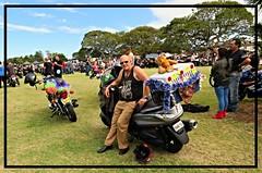 BIKER'S TOY RUN NEWCASTLE NEVILLE 2014 Yamaha Majesty YP400Z (neville51) Tags: newcastle motorbike yamaha bikers motorscooter toyrun dogsonmotorbikes motorbikesanddogs yamahamajestyyp400z