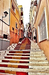 Calpe, Spain (davidheath01) Tags: old oldtown oldtowncalpe dslr tripod photography photo picture break paradise espanya espania travels holiday traveling red color nikond5100 nikon spain sun calpe steps colour
