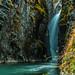 Ice blue falls