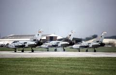 Panavia Tornado F.3s, Royal Air Force, RAF Fairford, 21 July 1997 (Kev Slade Too) Tags: f3 tornado raf panavia royalairforce raffairford egva ze288 ze292 riat1997 ze729
