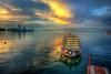 Peaceful (Nejdet Duzen) Tags: travel sunset reflection turkey boat cloudy türkiye sandal warship izmir günbatımı yansıma turkei seyahat bulutlu inciraltı savaşgemisi