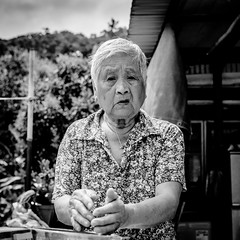 Elderly people #3 (Emilien ETIENNE) Tags: street old portrait urban blackandwhite bw monochrome face lady publicspace hongkong bay blackwhite nikon asia raw faces noiretblanc candid streetshots streetphotography streetlife nb asie emotions visage photojournalist portaiture elderlypeople whiteblack candidportrait photoderue streetphotograph photojournalisme scenederue streetstories peopleinthestreet therealstreetphotography streetcomposition candidstreetphotography candidsnapshot rawstreetphotography scenefromthestreet scenedevie travelphotojournalism d7000 nikond7000 emilienetienne