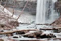 A Dusting of Snow (mitchell.sager) Tags: ontario ice nature explore waterfalls decew explorecanada exploreontario decewfallsmorningstarmill