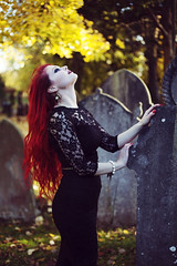 Fire. (siyanakasabovaphotography) Tags: red colour graveyard fashion dark photography model colours redhead redhair select darkbeauty