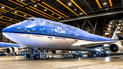 "KLM Boein 747 in the maintenance hangar • <a style=""font-size:0.8em;"" href=""http://www.flickr.com/photos/125767964@N08/16029843588/"" target=""_blank"">View on Flickr</a>"