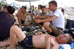 Nampo, North Korea (EleanorGiul ~ http://thevelvetrocket.com/) Tags: asia beachlife northkorea dprk coreadelnorte beachtown nordkorea    nampo coredunord coreadelnord justinames  coriadonorte visitnorthkorea httpthevelvetrocketcom eleonoragiuliani eleonoraames