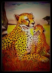 Leoparden (LOMO56) Tags: art modernart kunst gemälde acrylgemälde kunsttechniken realekunst