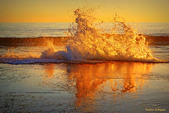 Splash (Darea62) Tags: water sunset reflections seascape wave splash