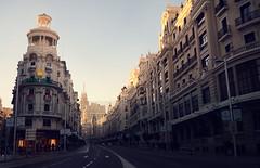 La Gran Vía (^ C o r t é s T r i a n a) Tags: madrid street sky urban españa architecture spain arquitectura outdoor explore espana espagne modernarchitecture arkitektur arquitecturamoderna aplusphoto colourartaward artlegacy arkitekthus