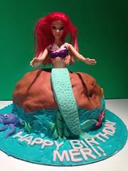 Little Mermaid cake by Sofia, Santa Cruz, CA, www.birthdaycakes4free.com