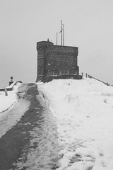 cabot tower B&W (crystal-lily) Tags: ocean city blue trees red sea dog sun lighthouse snow tree castle water girl fog clouds newfoundland campus stars island grey star memorial rocks university lighthouses labrador village cloudy library foggy royal footprints stjohns overcast bluesky nl uc pawprints royalty signalhill qeii nfld redcoat quidividi chowchow mun qv cabottower capespear girlanddog queenelizabethii memorialuniversity fluffyclouds johncabot universitycentre newfoundlandandlabrador memorialuniversityofnewfoundland quidividivillage cabottowerstar tinyhousesonthecoast queenelizabeth2library