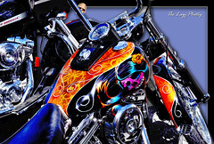 July 20 2012 - Beautiful Day of the Dead paint job (lazy_photog) Tags: red party mountains ink photography highway montana rally pass tattoos lodge harley lazy babes motorcycle rodeo davidson elliott bikers photog beartooth