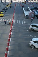IMG_6051 (Mike Pechyonkin) Tags: road street man car station moscow parking railway crosswalk  2016