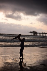 Father..! Son..! (Samd7000) Tags: california sea beach water kid nikon sandiego outdoor father joy son oceanside shore unedited scrippsinstitutionofoceanographypier