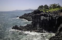 Jusangjeolli Cliff (sherenelim) Tags: cliff rock fuji korea jeju xt1 jusangjeolli
