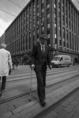 Street portraits (HKI DRFTR) Tags: life portrait people urban blackandwhite monochrome hat finland helsinki scenery eyecontact candid streetphotography suit casual everyday soulful gentleman humans streetcomposition