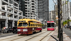Where Old Meets New (james.mannequindisplay) Tags: city toronto ttc citylife harbourfront streetcar