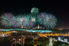Fireworks over Moscow.jpg (Vladimir_Parfenov) Tags: city architecture night landscape cityscape view fireworks russia moscow   9