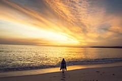 (Emily Mary.) Tags: travel light sea sky beach nature clouds sunrise landscape outdoors coast nikon backpacking tasmania tassie goldenhour eastcoast